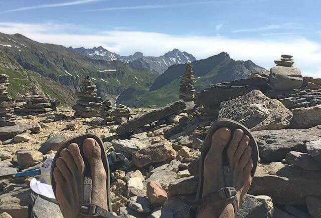 Sandales minimalistes et UTMB
