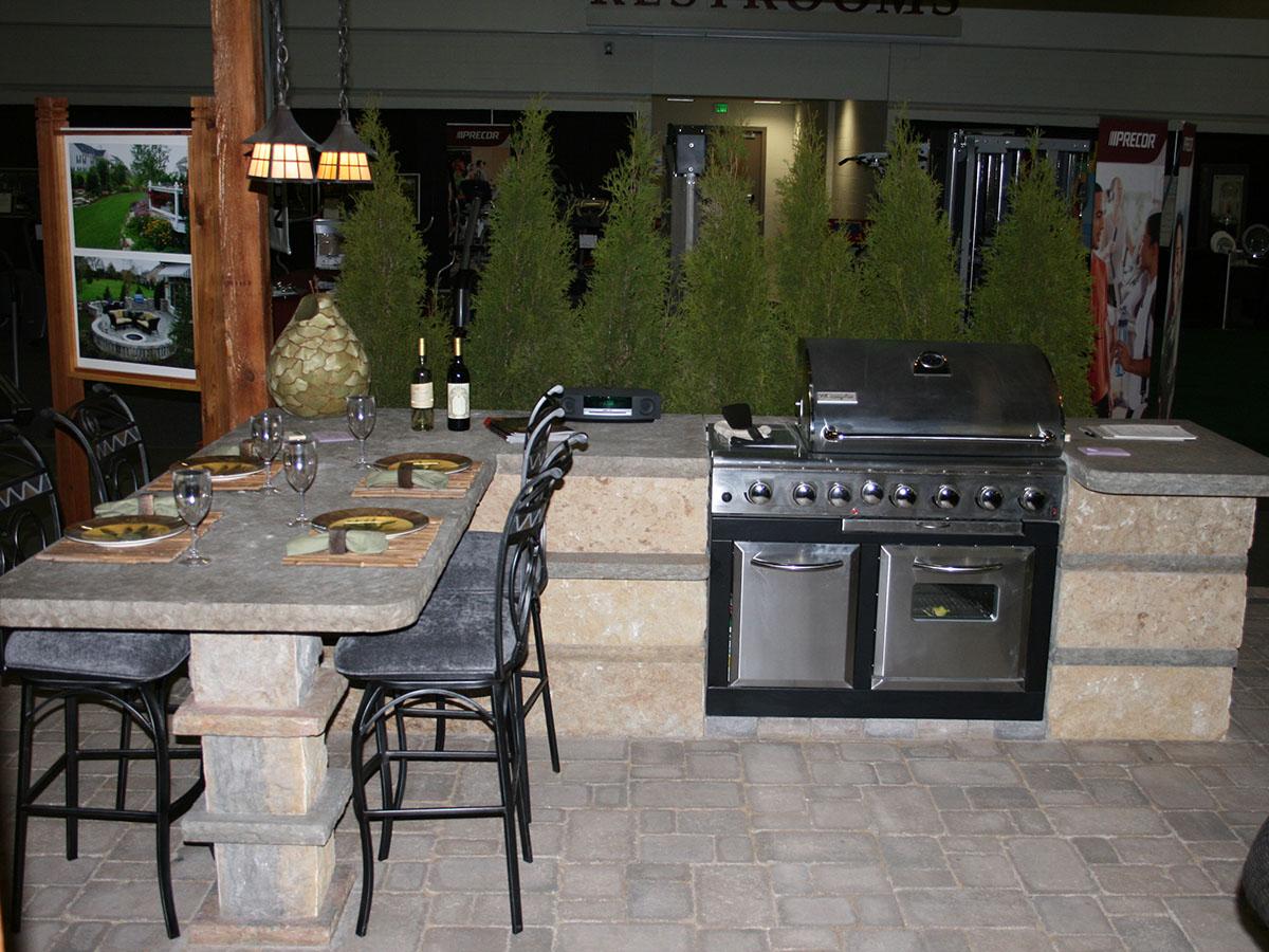 outdoor kitchen bar retro stoves kitchens bars stone additions lemke