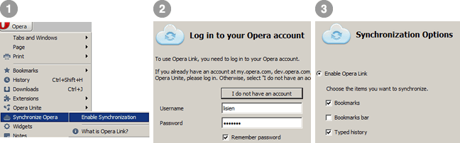 How to use Opera Links / Sync to Backup your Browsing Data on Opera