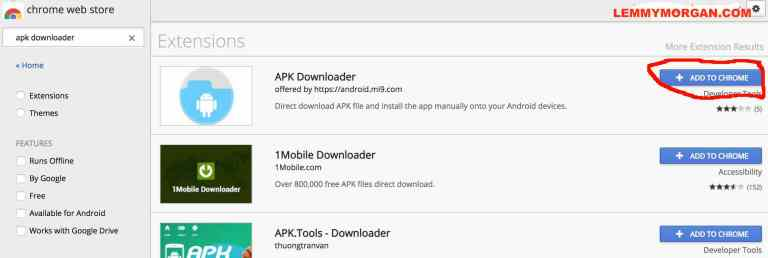 how to use APK Downloader for Chrome