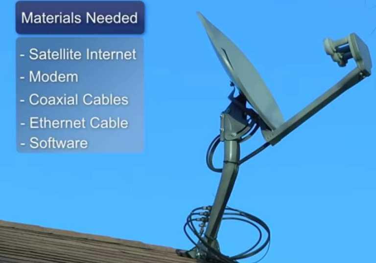 satellite internet dish installation