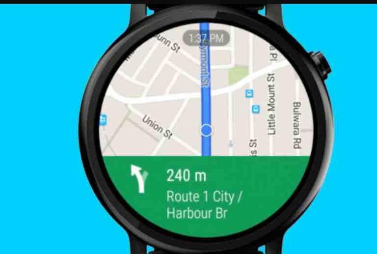 map navigation on a smartwatch