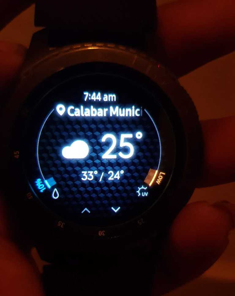 Weather and GPS on galaxy gear 3 frontier