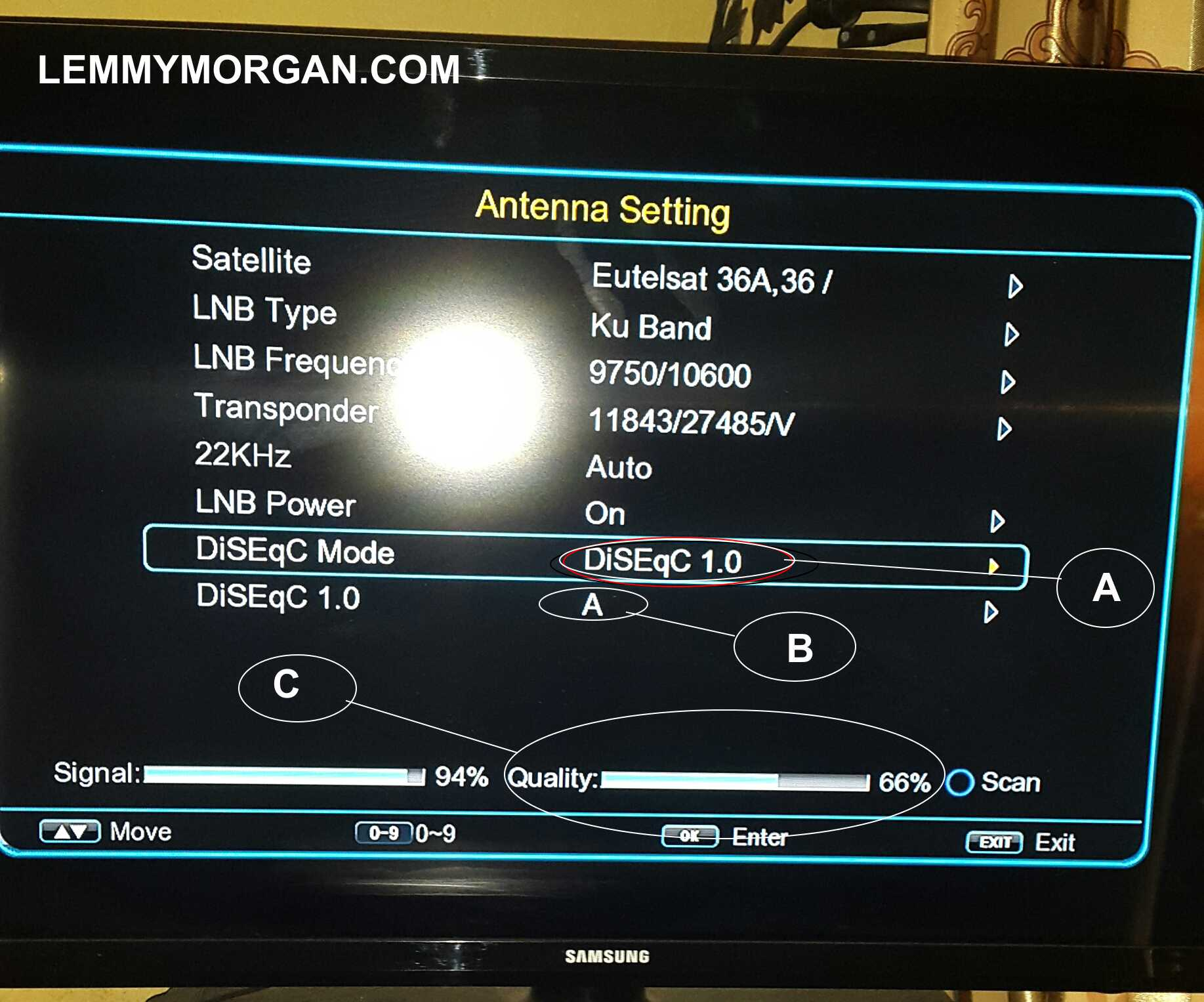 How to Setup a DiSEqC Switch and Connect Multiple Dishes to