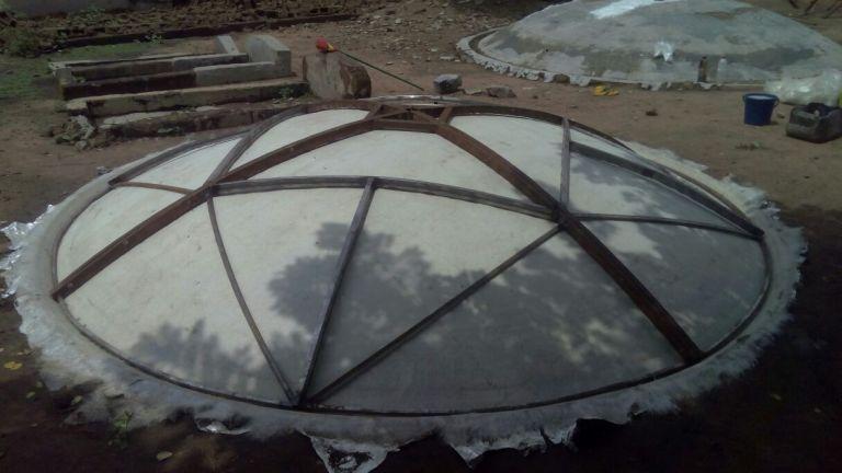 Fibre Glass Dish Construction