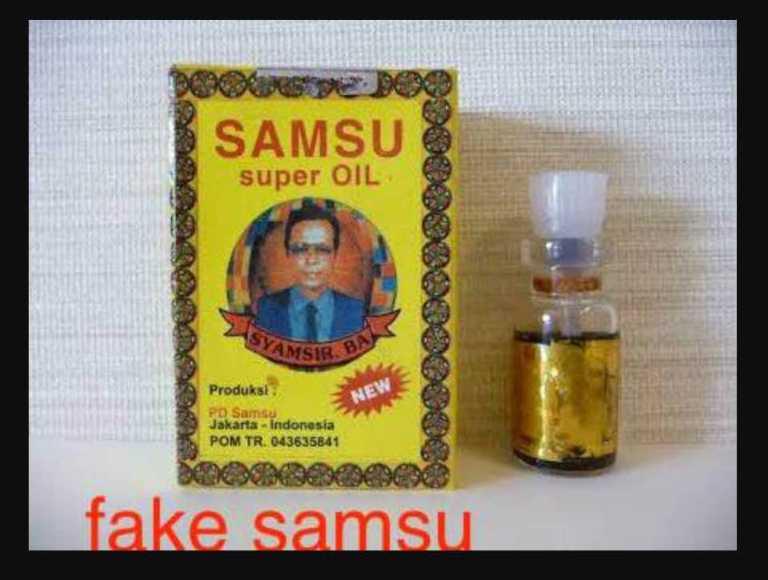 picture of a fake samsu super oil