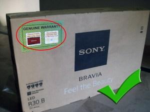 pre-identify fake TVs