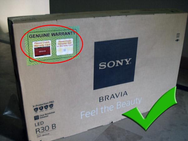 identify fake televisions