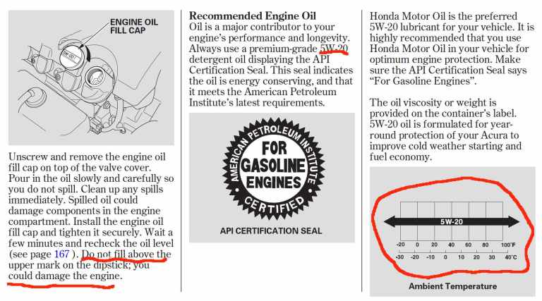 Get the oil type for your vehicle from your manual