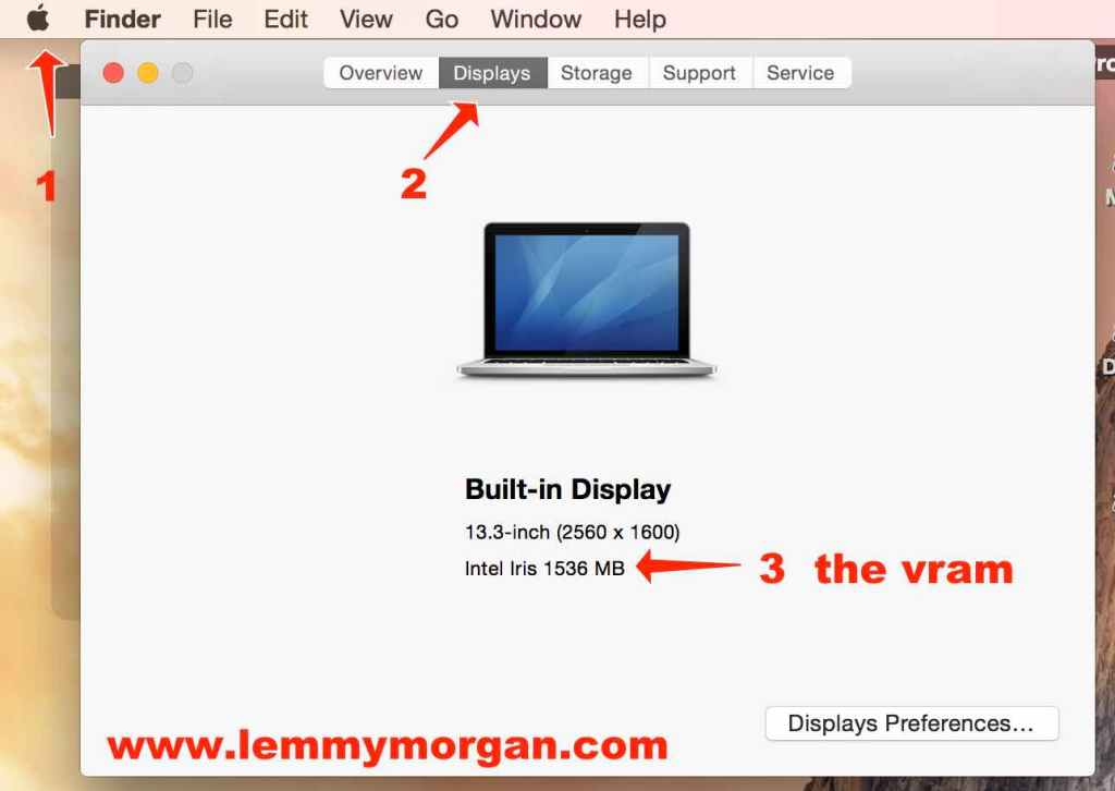 how to check the display properties on a mac computer