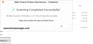 recovered file within root broken files folder