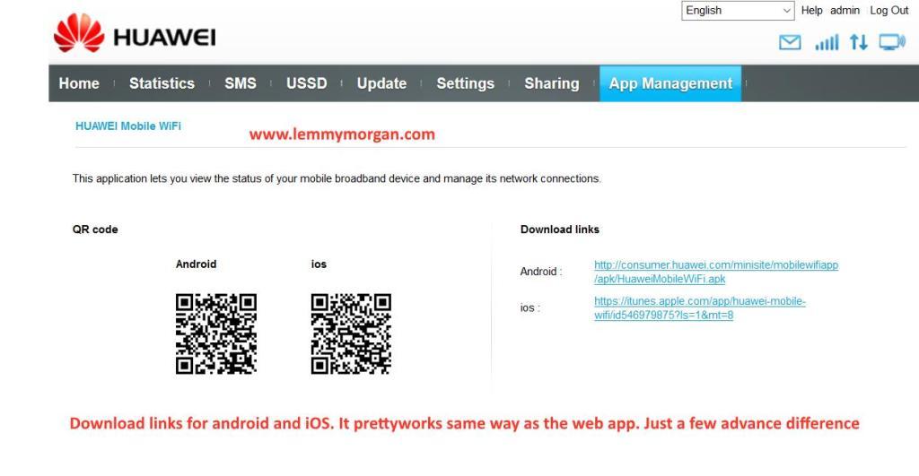 Huawei hilink mobile app