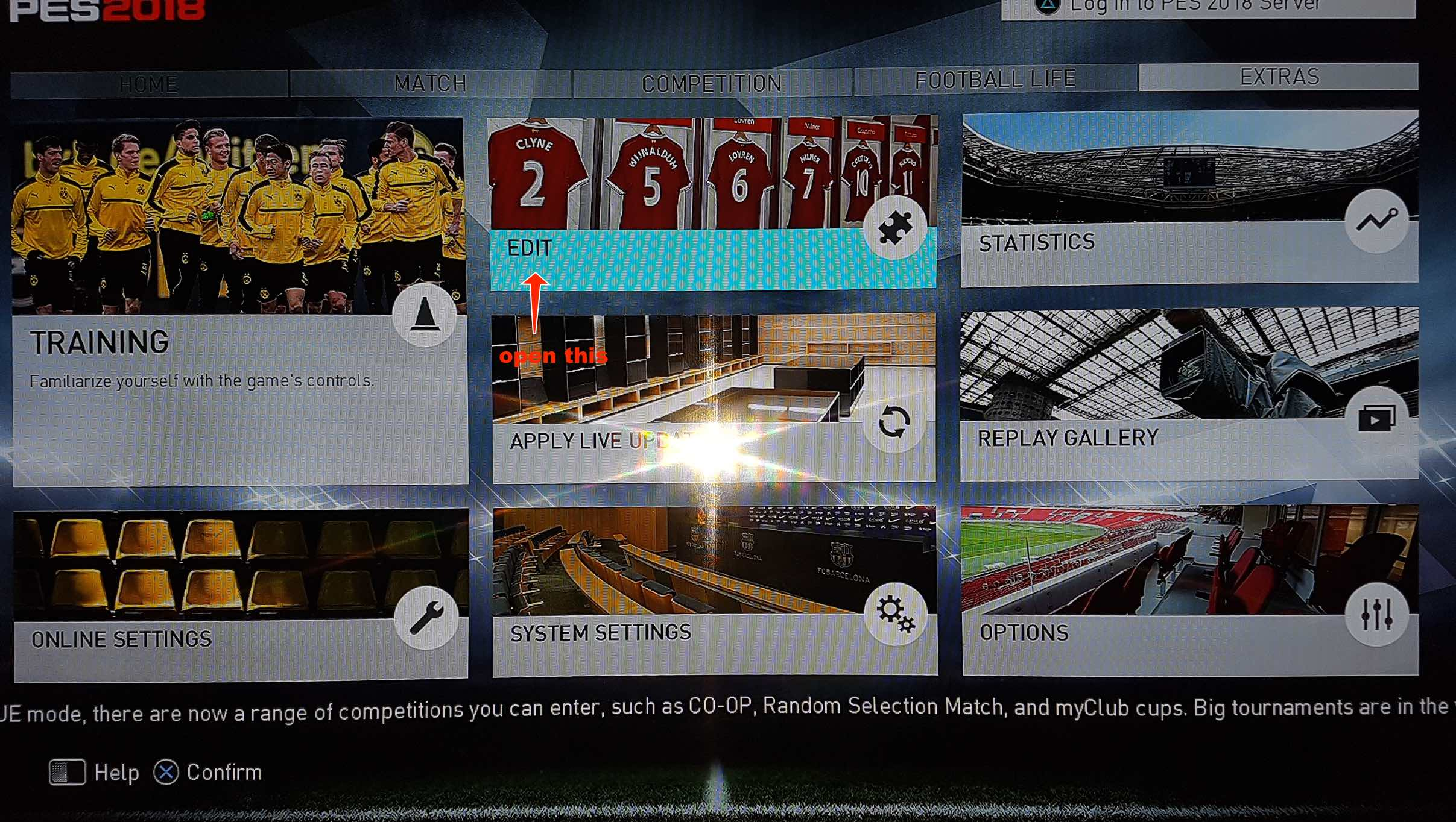 change pro evolution soccer pc/ps4 team names , logo and stadium