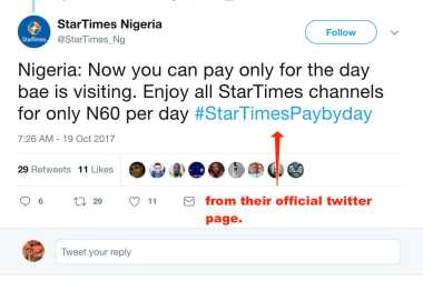 Startimes paybyday vs Dstv active service suspension