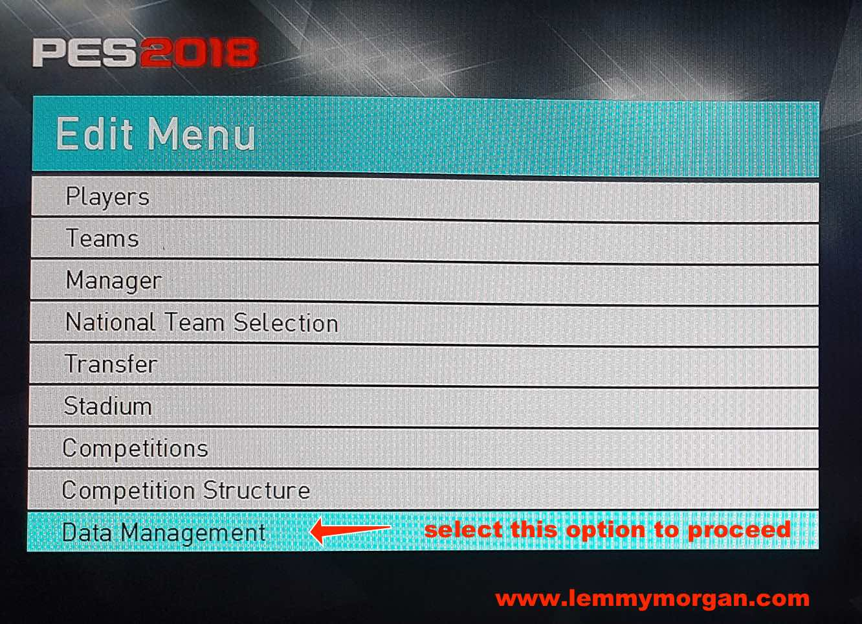 change pro evolution soccer pc/ps4 team names , logo and stadium