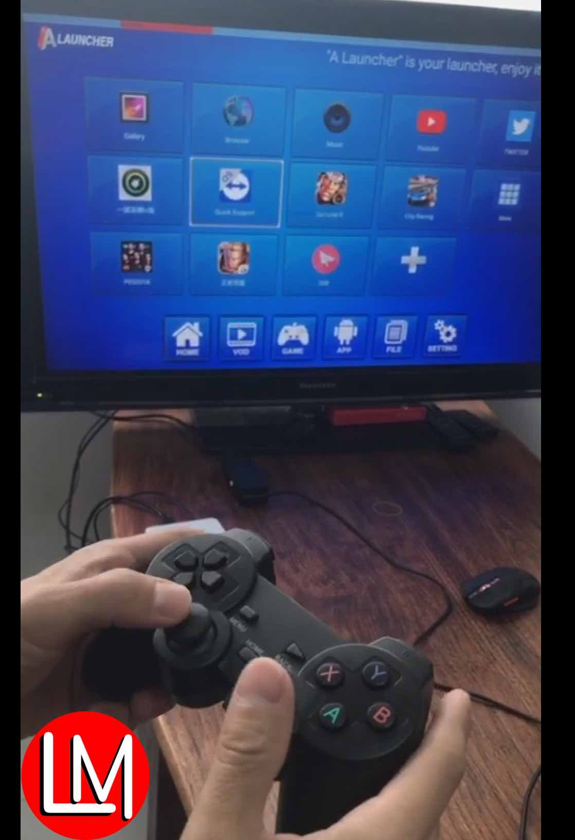 How to match a compatible wireless joystick with ANMAX Android TV box and gamestation