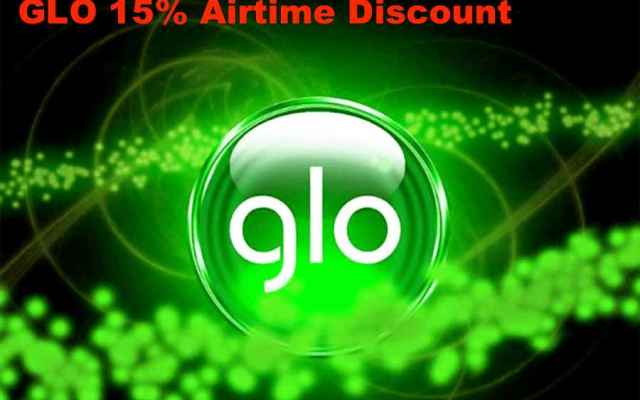 Glo 15% discount Airtime sales