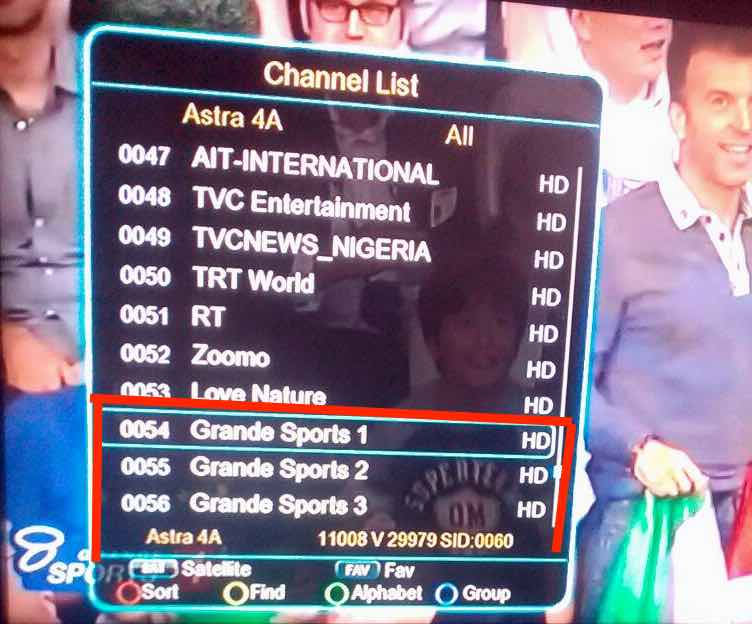 Grandesports back on TStv Africa April 2018