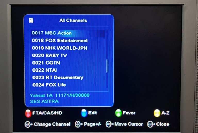 TStv channels on Yahsat 1A page 3(17-24)