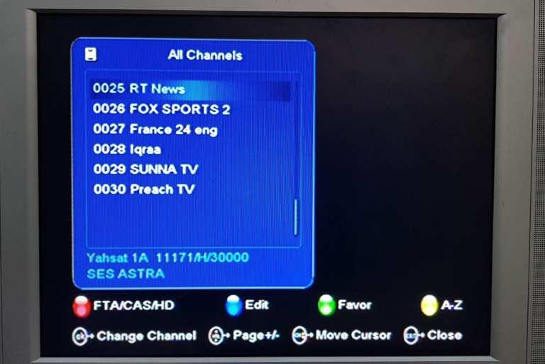 TStv channels on Yahsat 1A page 4(25-30)