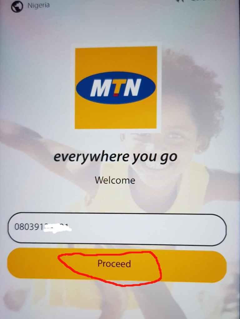 MyMTN App free data activation