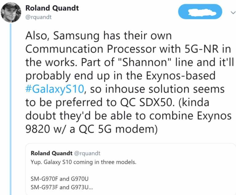 Galaxy S10 5G-NR Exynos 9820 Version