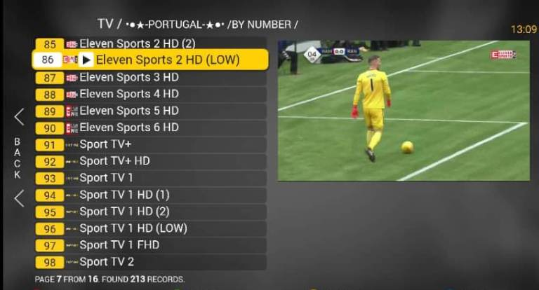 list of IPTV channels on nusky