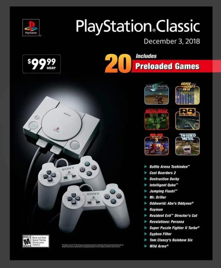 PlayStation Classic_full list of Games