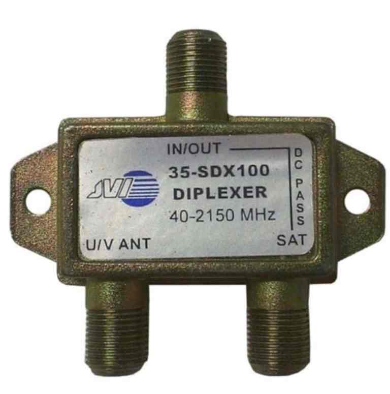 Satellite Diplexer: sat antenna and input