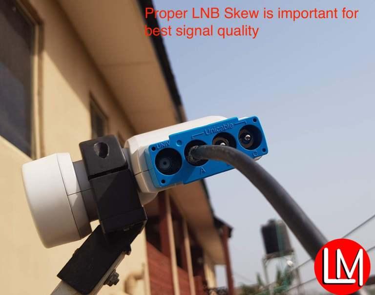 skewing DStv smart LNB