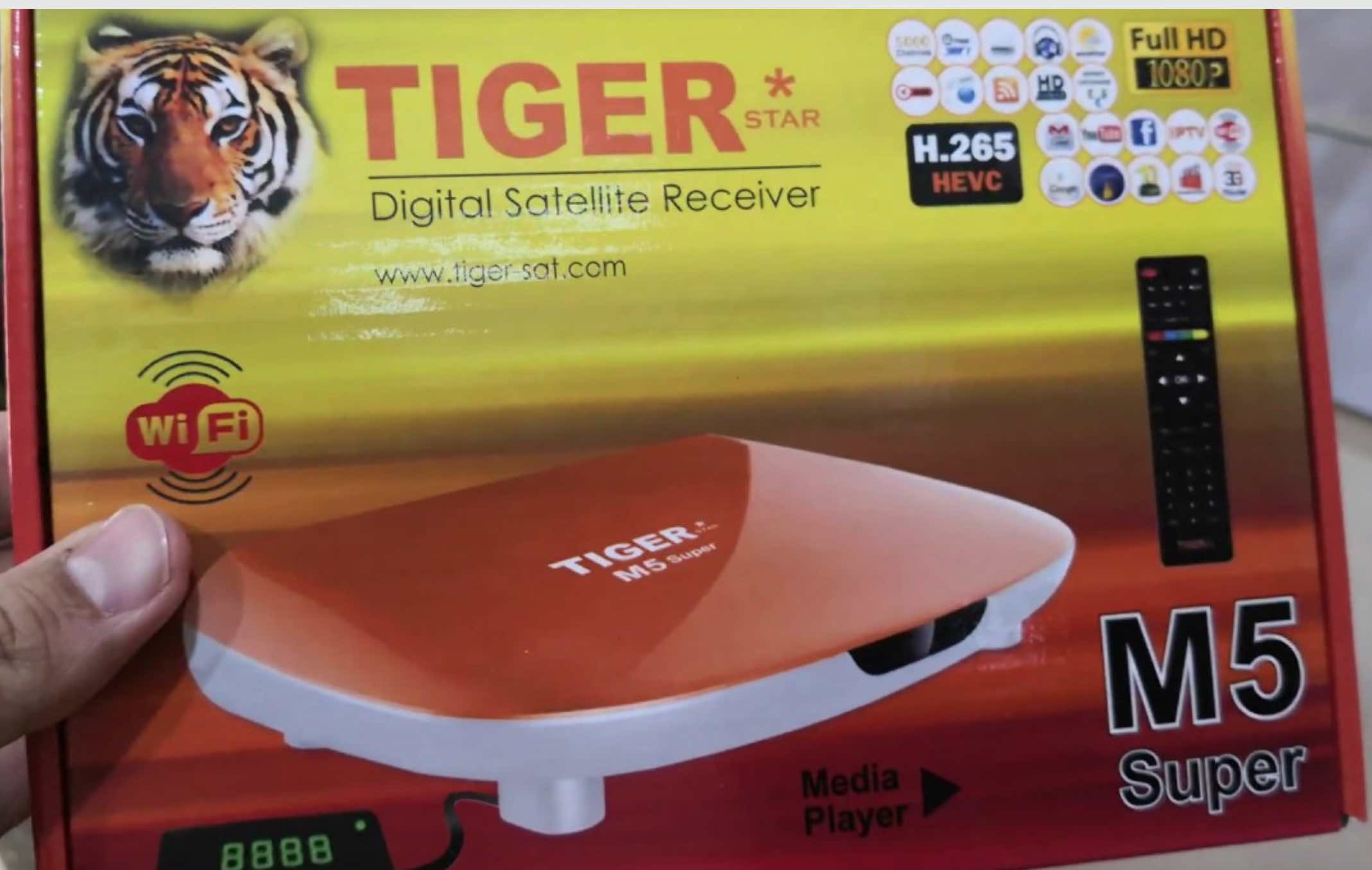 Tiger M5 Super Satellite Receiver Combo – Comes with IPTV, IKS, SKS