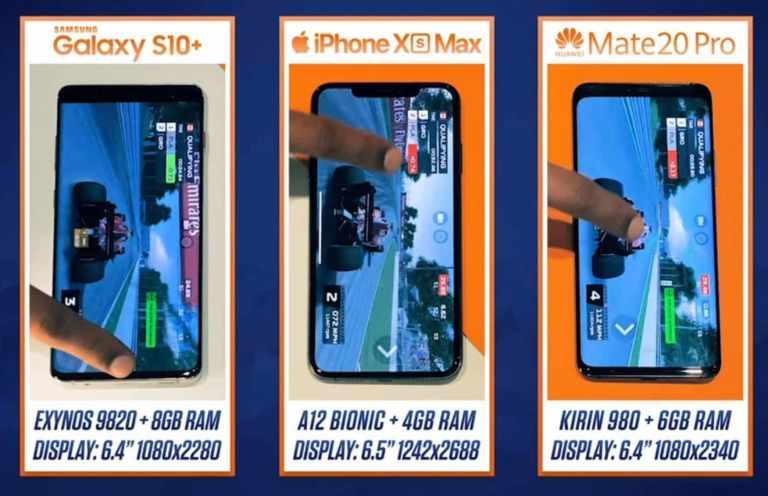 S10+ vs Xs Max vs Mate20Pro-Chip,ram & display