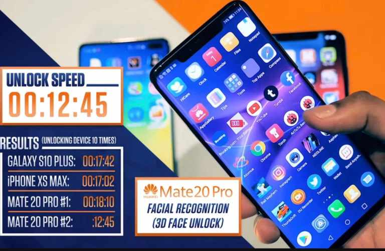 Unlock speed test between xs max, s10+ and mate20p