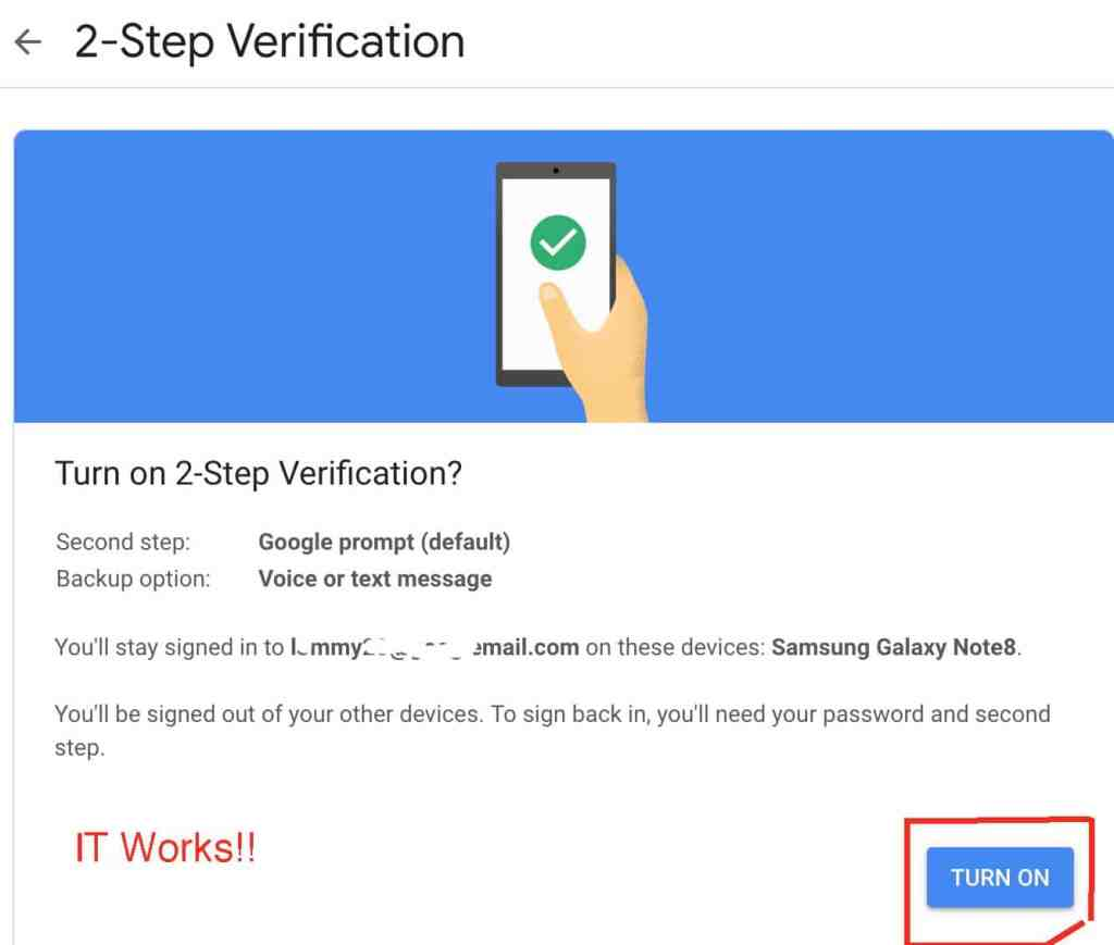 2-Step verification activated in Nigeria