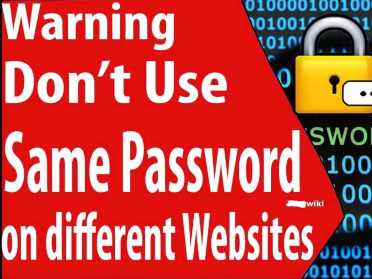 avoid using same password on multiple sites online