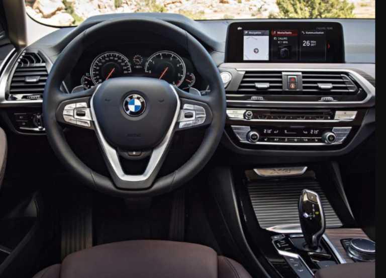 BMW X3 2019 interior
