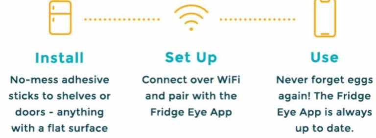 Connecting the Fridge EYE app to the device