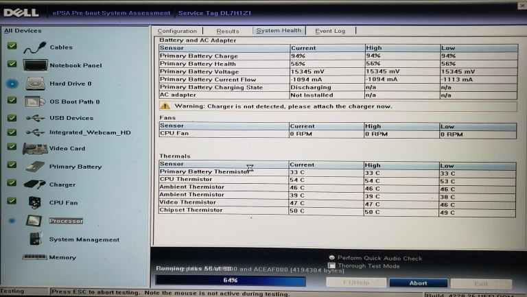 DEll inspiron 7000 Windows Memory Diagnostic