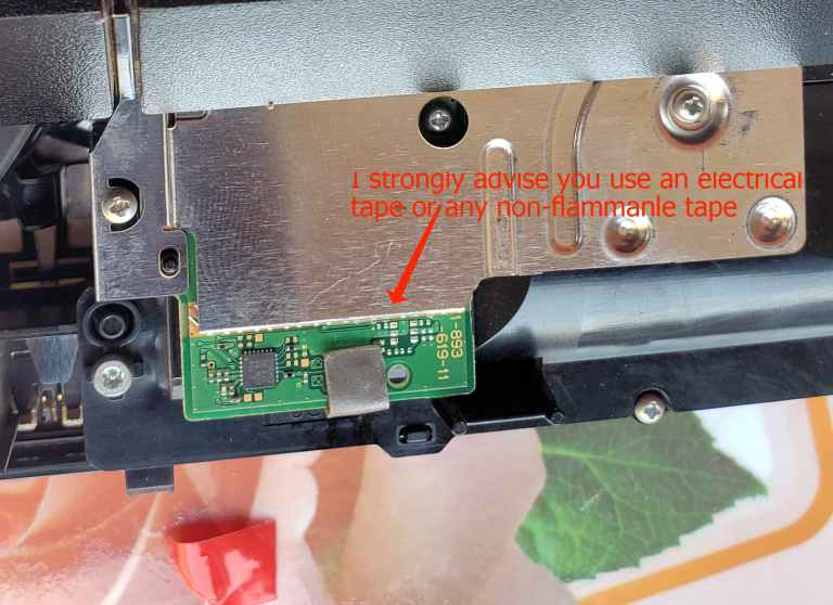 block the eject sensor from activating eject switch on ps4