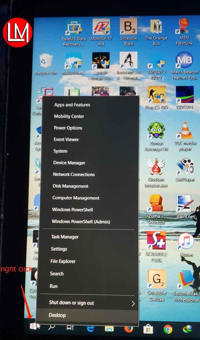 windows 10 hidden start menu