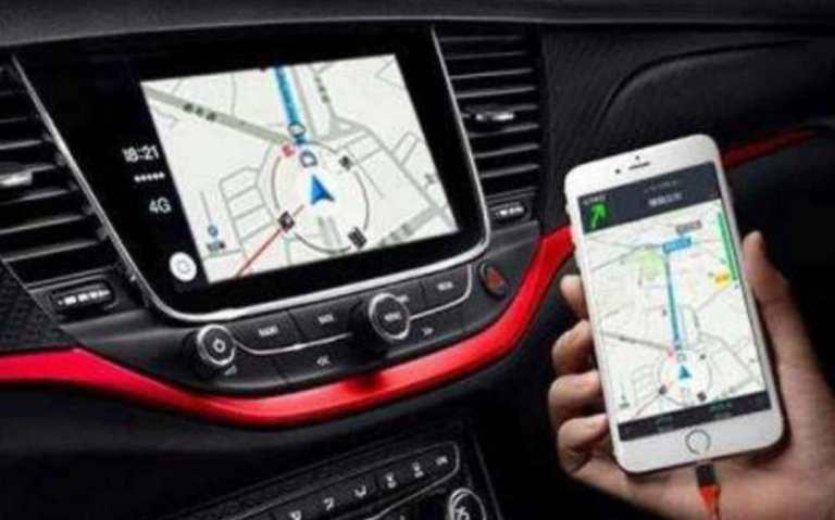 don't touch your phone navigation while driving