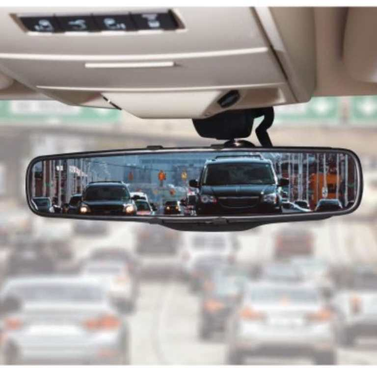 traditional rearview mirror