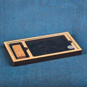 Cutie lemn Stejar Plexy