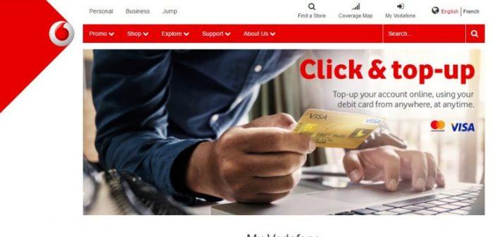 J'ai essayé la recharge de crédit Vodafone Cameroun par carte Visa