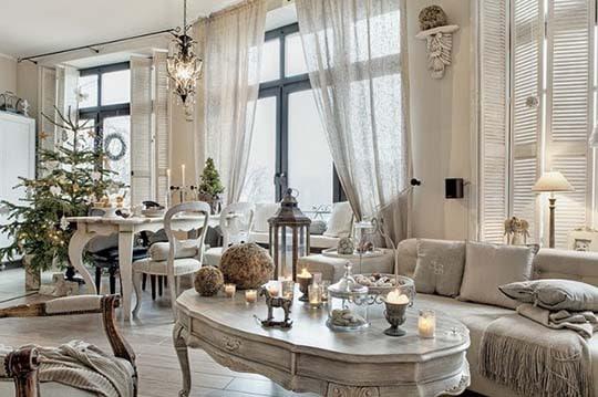 Navidad en blanco para una casa elegante  LEMONBE  El