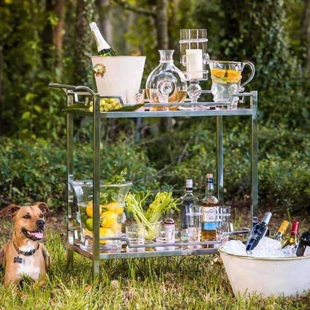 Bar Cart Essential for Outdoor Entertaining