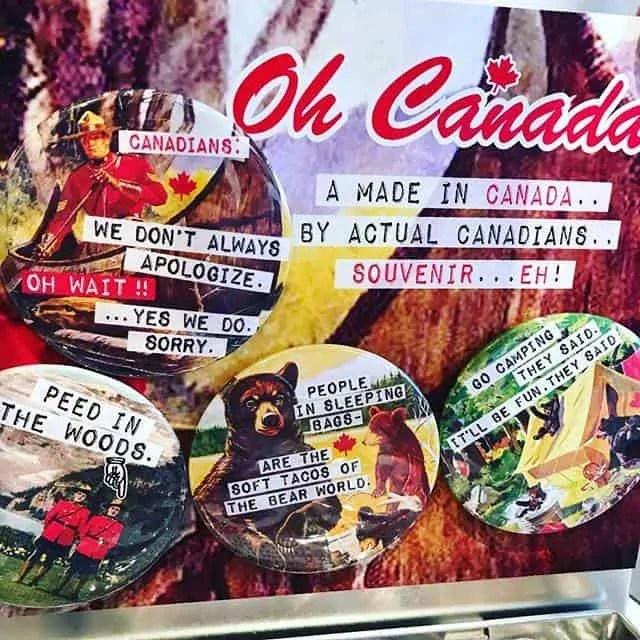 Vintage Vibe Canadian Magnets
