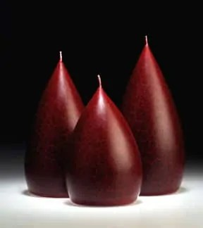 Round Berry Red Barrick Design Candles at Lemonceillo Home & Gift