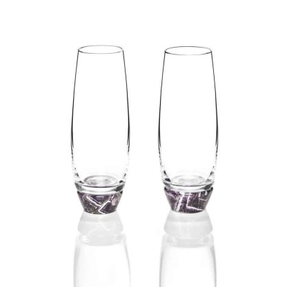 Amethyst Champagne Glasses