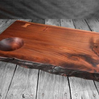 Hand Carved Black Walnut Dip Board